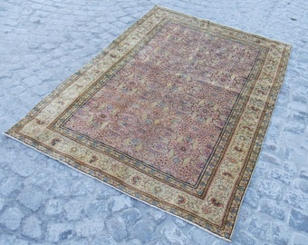 vintage RUG - home runner medium soft rug turkish rug, 585