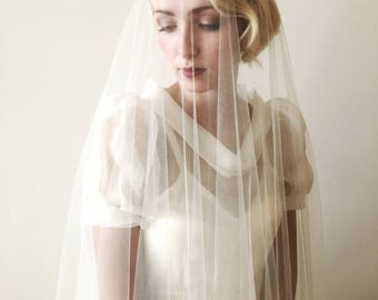 Custom Oval Chapel Length Bridal Veil