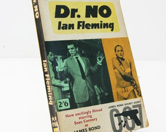 Dr. No Ian Fleming Retro 1962 James Bond Paperback Spy Gifts Vintage Book gift