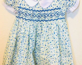 SHIPS NEXT DAY!!! Girls Smocked Dress, Princess Smocked Dress