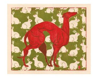 Poster - Sustai Ulanbaagen - Hare and Hound - fine art gallery
