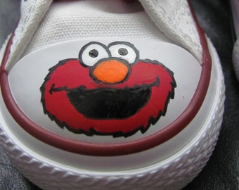 Elmo hand painted shoes