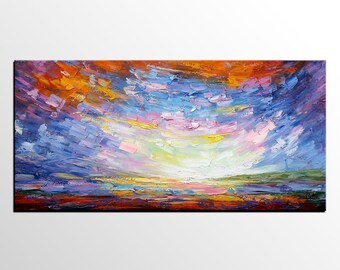 Living Room Wall Art, Large Art, Abstract Art, Abstract Landscape Painting, Canvas Art, Abstract Oil Painting, Canvas Painting, Wall Art