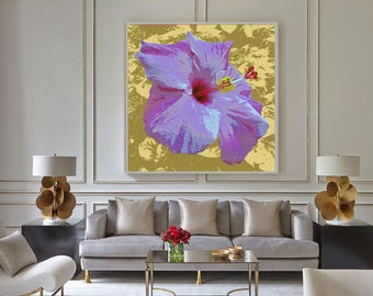 Hibiscus Pop Art print