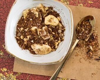 Herbal Rooibos Tea, Chocolate Rooibos, Coconut Rooibos, Chocolate Tea, Chocolate Herbal Tea, JUNGLE MONKEY Herbal Rooibos Tea