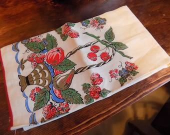 Vintage Mid Century NOS Printed Flour Sack Towel