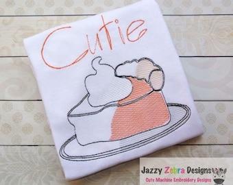 Slice of Pie Sketch Embroidery Design - dessert Sketch Embroidery Design - pumpkin pie Sketch Embroidery Design - pie Sketch Embroidery