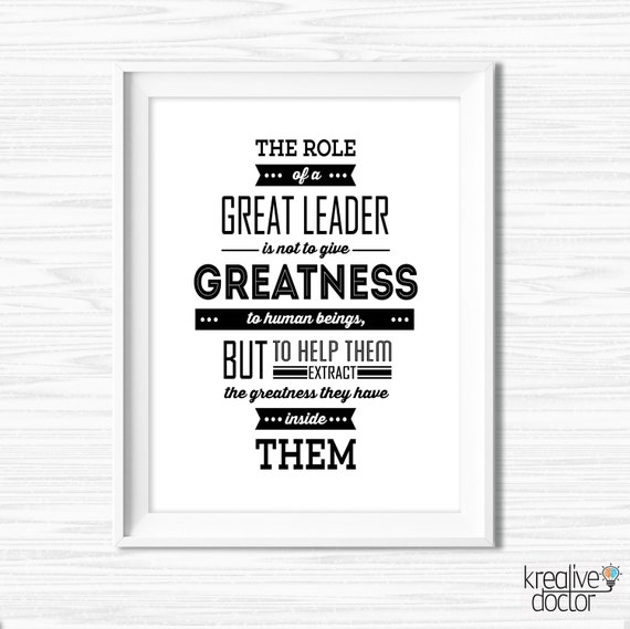 Leadership quotes for office wall art motivational wall decor for Motivational quotes for office cubicle