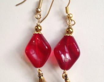 Vintage Swirl Bead Earrings