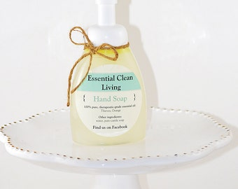 Foaming essential oil hand soap
