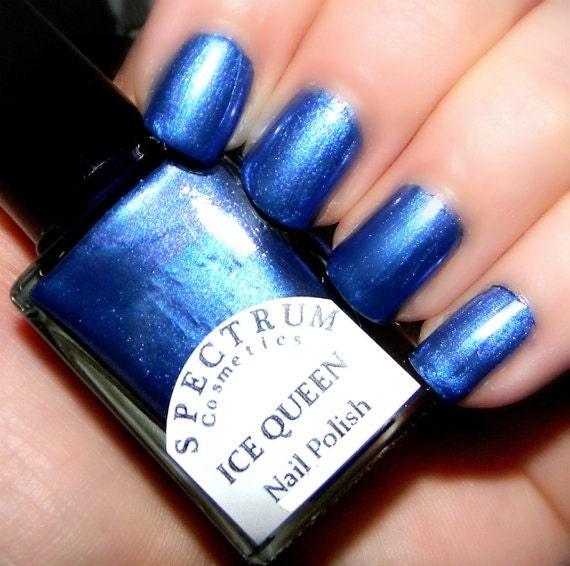 Blue Nail Polish Names: ICE QUEEN Blue Violet Nail Polish Winter Blues Collection