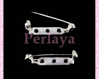 Set of 30 silver pins 28mm REF381 supports