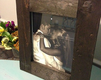 Rustic Wood Picture Frame Photo Display - Wood Photo Frame