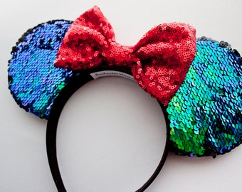 The Little Mermaid Mouse Ears / Ariel Ears / Minnie Mouse Ears / Mickey Mouse Ears / Disney Ears / Disney Gift / Minnie Ears / Mickey Ears