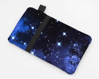 Fabric Smartphone Sleeve, Samsung Galaxy S6 Case, Apple iPhone 5, 6S Plus Case, HTC One m8 Padded Case - night sky with stars