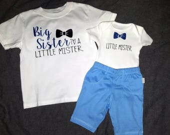 Little Mister Announcement - both Toddler AND newborn onsie!!