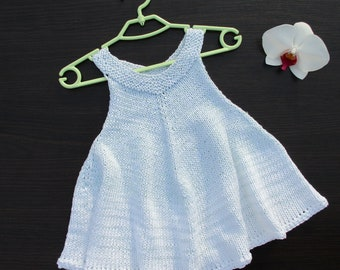Knitted Baby dress, Sundress, Knit dress, Girls dress,Baby girl clothes,Baby girl gift 12/18 months
