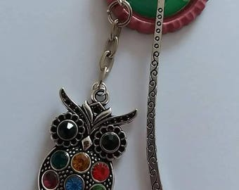 chain link charm bookmark (owl)