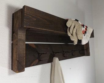5 Hook Coat Rack. Shelf Coat Rack. Wood Coat Rack. Pallet Wood Coat Rack. Coat  Rack With Storage. Coat Rack With Cubby. Wall Mount Coat Rack