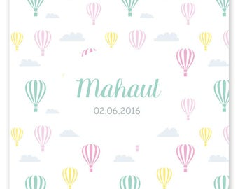Birth announcement Mac, graphic and modern to be personalized