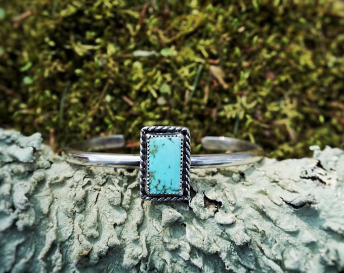 Natural Turquoise Mountain Cuff, Turquoise Sterling Silver Cuff, Turquoise Sterling Silver Bracelet