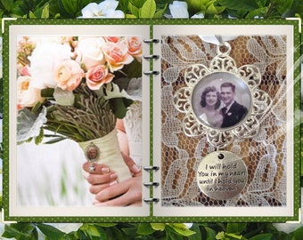 Wedding bouquet remembrance charm with photo