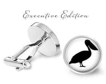 Pelican Cufflinks - Pelican Cuff Links - Bird Cufflink (Pair) Lifetime Guarantee (S0862)