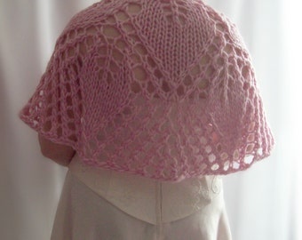Pink lace capelet, Lace capelet, Bridal capelet, Pink Capelet, Knitted Capelet, Knit Shawl, Gift for Her, Gift for Mum, Birthday Gift