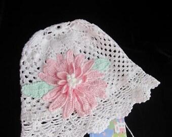 Baby Girl Sun Hat, White Sun Hats, Toddler Floppy Beach Hat Crochet Panama Hat, Summer Baby Hat, Baby Girl Brim Hat, Kids Summer Hat