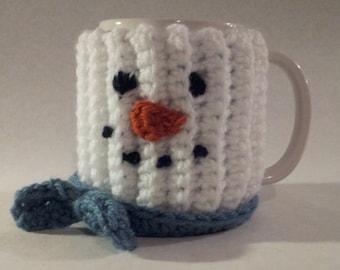 Snowman Coffee Cup Cozy