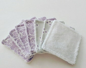 Facial Cleansing Cloths Purple, Reusable Makeup Remover Pads, Facial Wipes, Toner Pads,  Reusable Cotton Rounds,  Gift under 10, Face Scrub