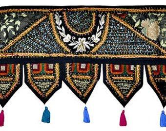 38x14\  Decorative Indian Sari Door Valance Vintage Door Hanging Window Toran Window Hanging Treatment & Door valance | Etsy