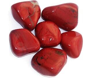 Red Jasper Tumbled Stone, Tumbled Stone, Red Jasper Stone, Root Chakra Stone, Feng Shui, Strength, Grounding , Energy Stone, Chakra Healing