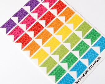 32 Matt Flagge Aufkleber, Muster-Aufkleber, banner, Wimpel, Sticker, Scrapbook-Aufkleber, Checkliste Aufkleber Eclp Filofax glücklich planner