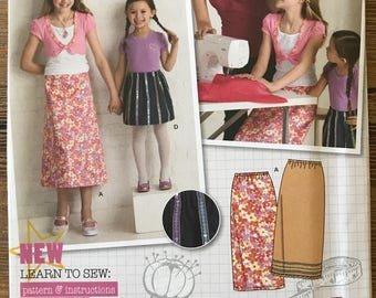 UNCUT Girls, Kids, Childs Skirt Sewing Pattern Simplicity 2576 Size 3-4-5-6 Learn to Sew, Beginners Pattern, Maxi Skirt, A Line Skirt, Easy