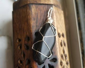 Obsidian Necklace for Spiritual Soul Searching and Protection