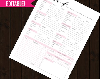 monthly budget planner, budget planner, budget printable, finance planner, monthly finance planner, letter size, money tracker