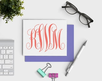 Custom Monogram Notecards - Personalized Notecard Set - Hostess Gift