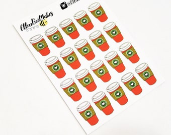 Christmas Coffee Cup Stickers