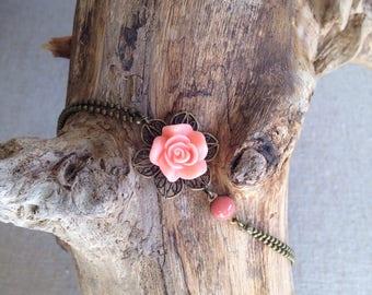 Delicate bracelet Rose - Bohemian romantic jewelry