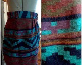 Native American Print Wrap Skirt