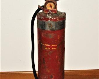 1950's Copper Fire Extinguisher EMPTY 1 Gallon  Rare Pyrene Fire Extinguisher