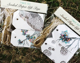 Seeded Paper 12 pk Gift Tags - Herd