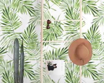 Removable wallpaper - Exotic Leaves Wallpaper - Wall mural - Tropical Wallpaper - Self adhesive wallpaper - Temporary wallpaper - Mural #6