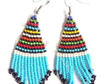 ON SALE FULANI Earrings, Cute Earrings, Statement Earrings, Bohemian Earrings, African Earrings, Tribal Earrings, Colorful Earrings, African