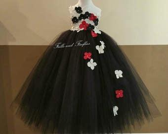 Whiteblack flower girl dress flower girl dresses black white red flower girl dress flower girl dresses bridesmaid dress mightylinksfo Gallery