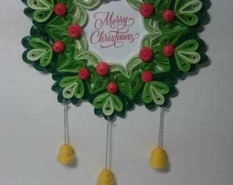 Christmas wreath, paper quilling