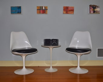 Eero Saarinen Tulip Side Tables By Knoll   Original Mid Century