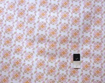 Annette Tatum AT64 Bohemian Medallion Orange Cotton Fabric 1 Yard