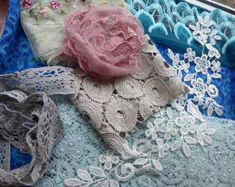 Hope jacare  - A mixture of new and vintage laces and fabrics-  Lace17